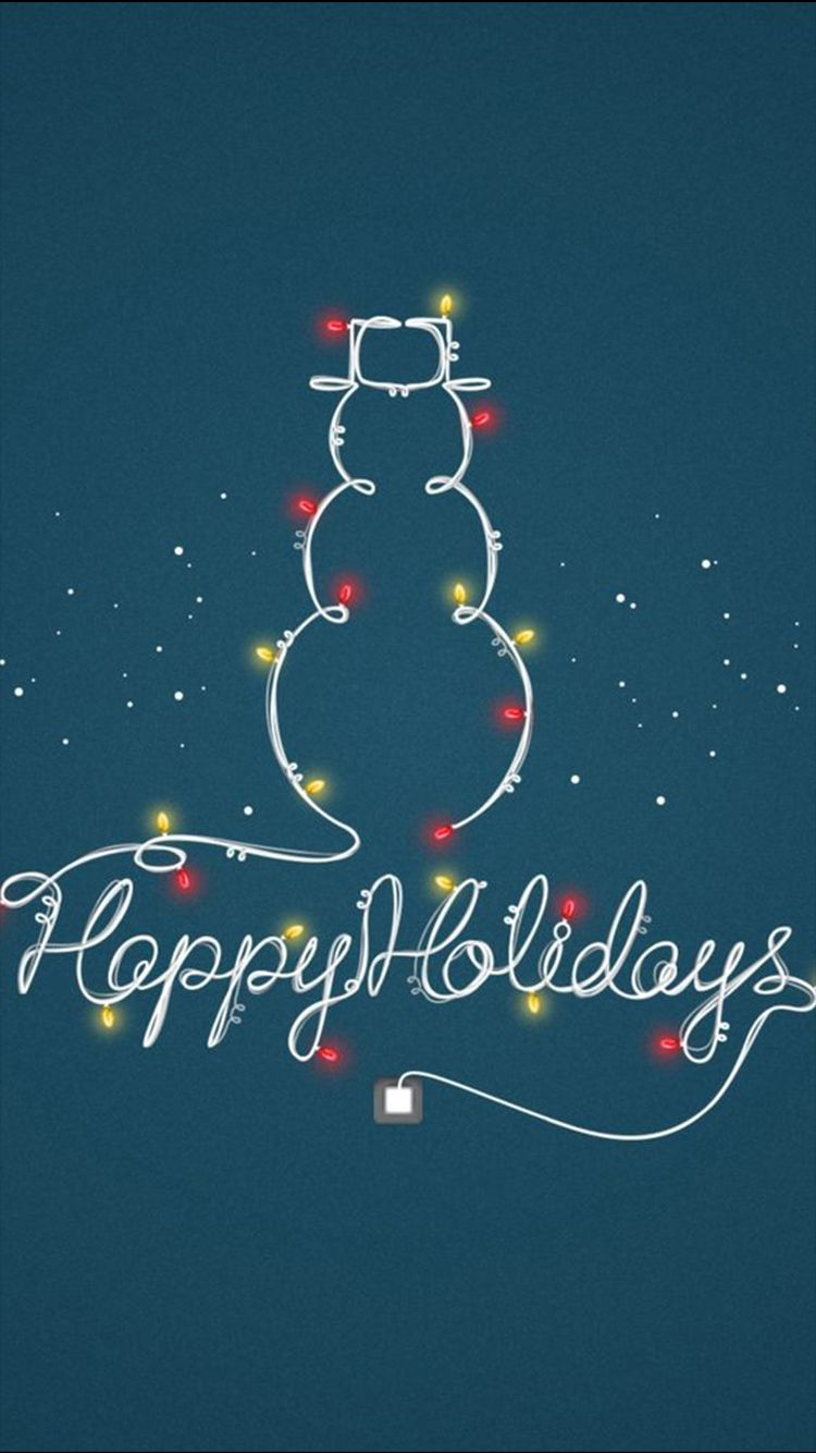Happy Holidays Light Decoration Snowman Iphone 6 Wallpaper Wallpaper Iphone Christmas Holiday Iphone Wallpaper Iphone Background