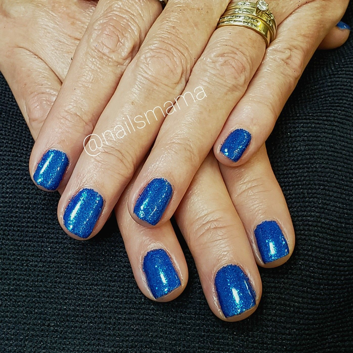 Blue Glitter Gel Nails Short Glitter Gel Nails J Nails Gel Nails