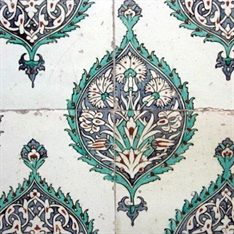 Turkish tiling in Topkapi Palace, Istanbul