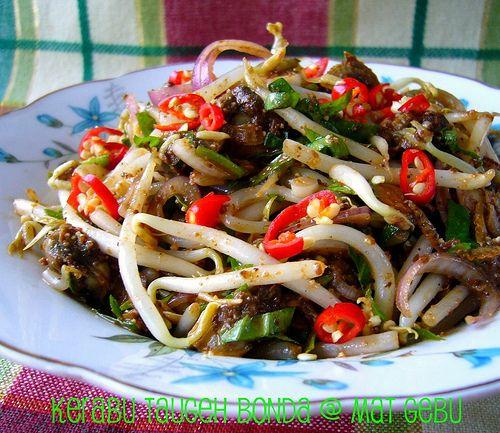 Dapur Tanpa Sempadan Kerabu Taugeh Bonda Healthy Recipes Food Recipes