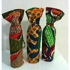 African print drinks bags