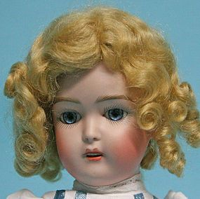"""11.5"""" Daisyette reproduction doll from JEAN NORDQUIST DESIGNS on Doll Shops United http://www.dollshopsunited.com/stores/jeannordquist/items/1285951/Jeans-11-reproduction-Daisyette-doll #dollshopsunited"""