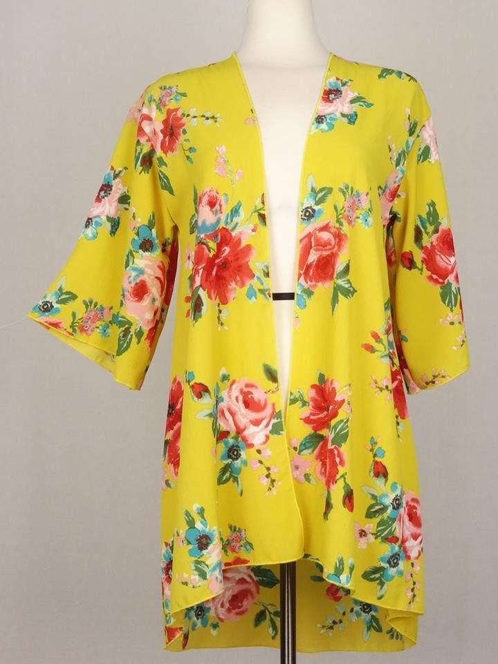 Yellow Floral Cardigan | Products, Cardigans and Floral cardigan