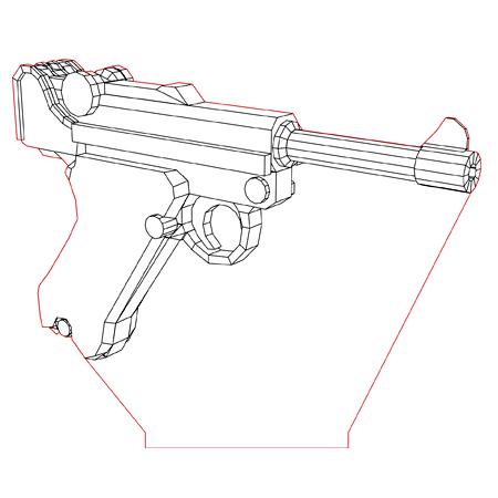 Luger 3d Illusion Lamp Plan Vector File