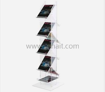 Multi Layers Clear Magazine Holder Sbd 069 Brochure Holders Acrylic Sign Cosmetics Display Stand