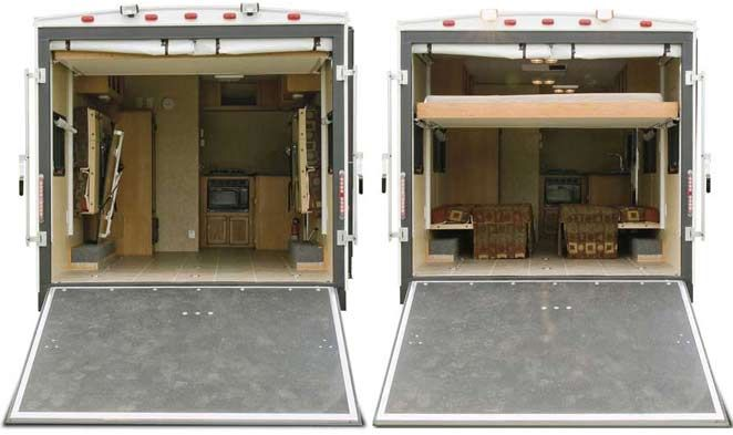 1000 Ideas About Enclosed Bed On Pinterest: Viking V-Trec Sport Utility Trailer Ramp And Rear Bed