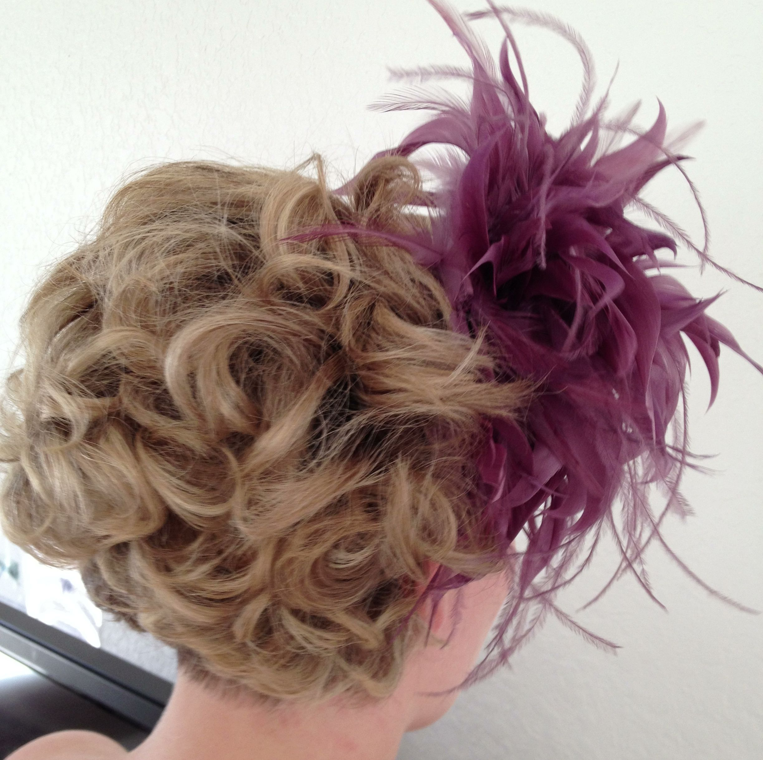 This bridal hairstyle started as a straight, short bob ...
