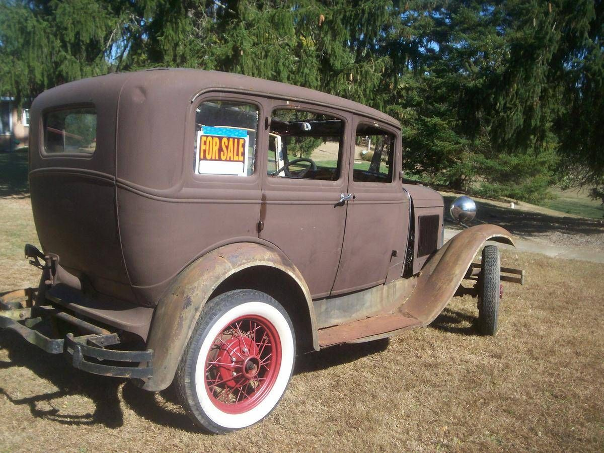 1931 ford model a murray 4 door slant windshield