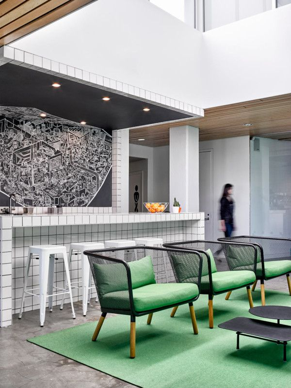 Colorful Office Renovation By Ghislaine Vinas Interior Design Office Space Design House Home Magazine