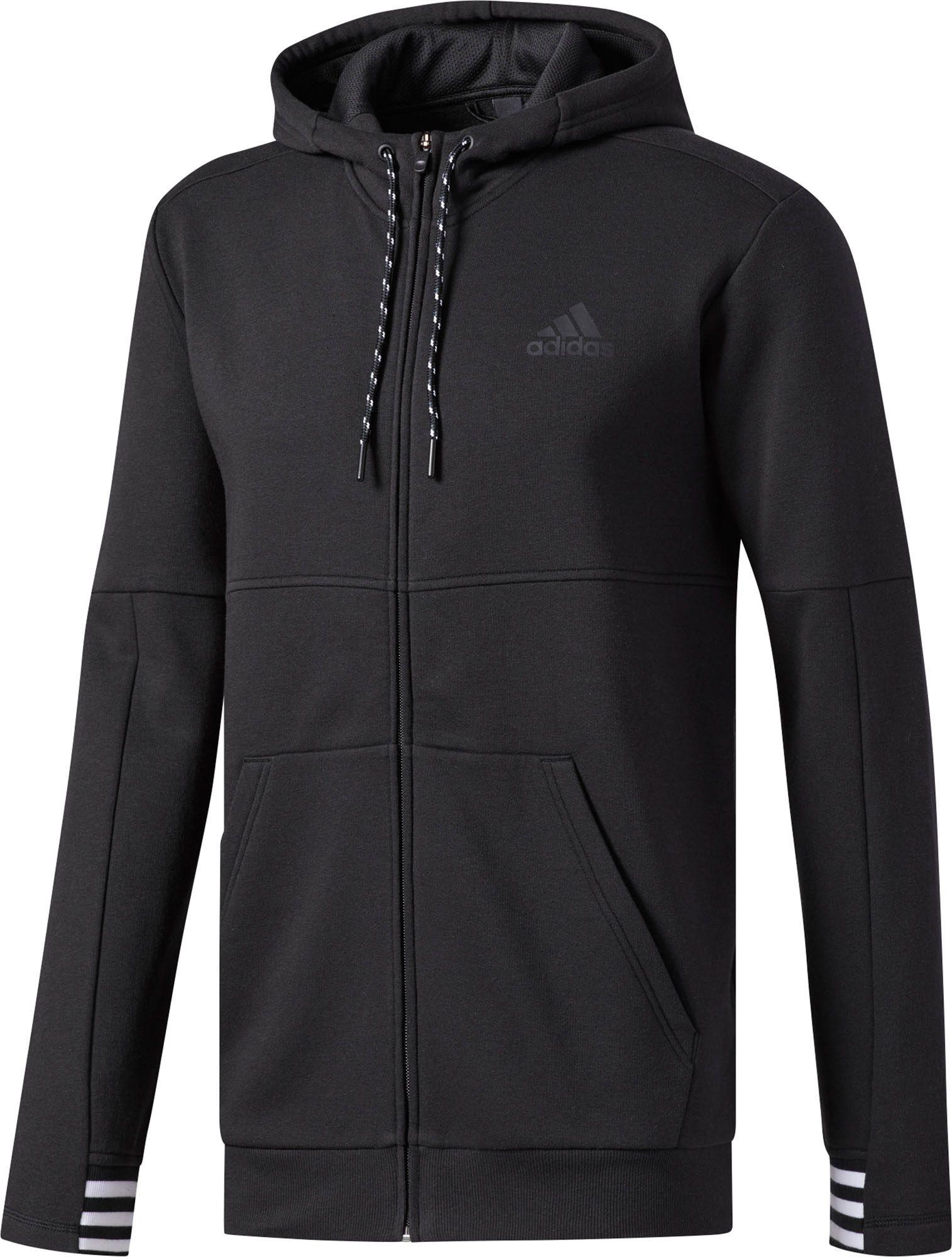 adidas Men's Post Game Full Zip Hoodie, Black #3 #new