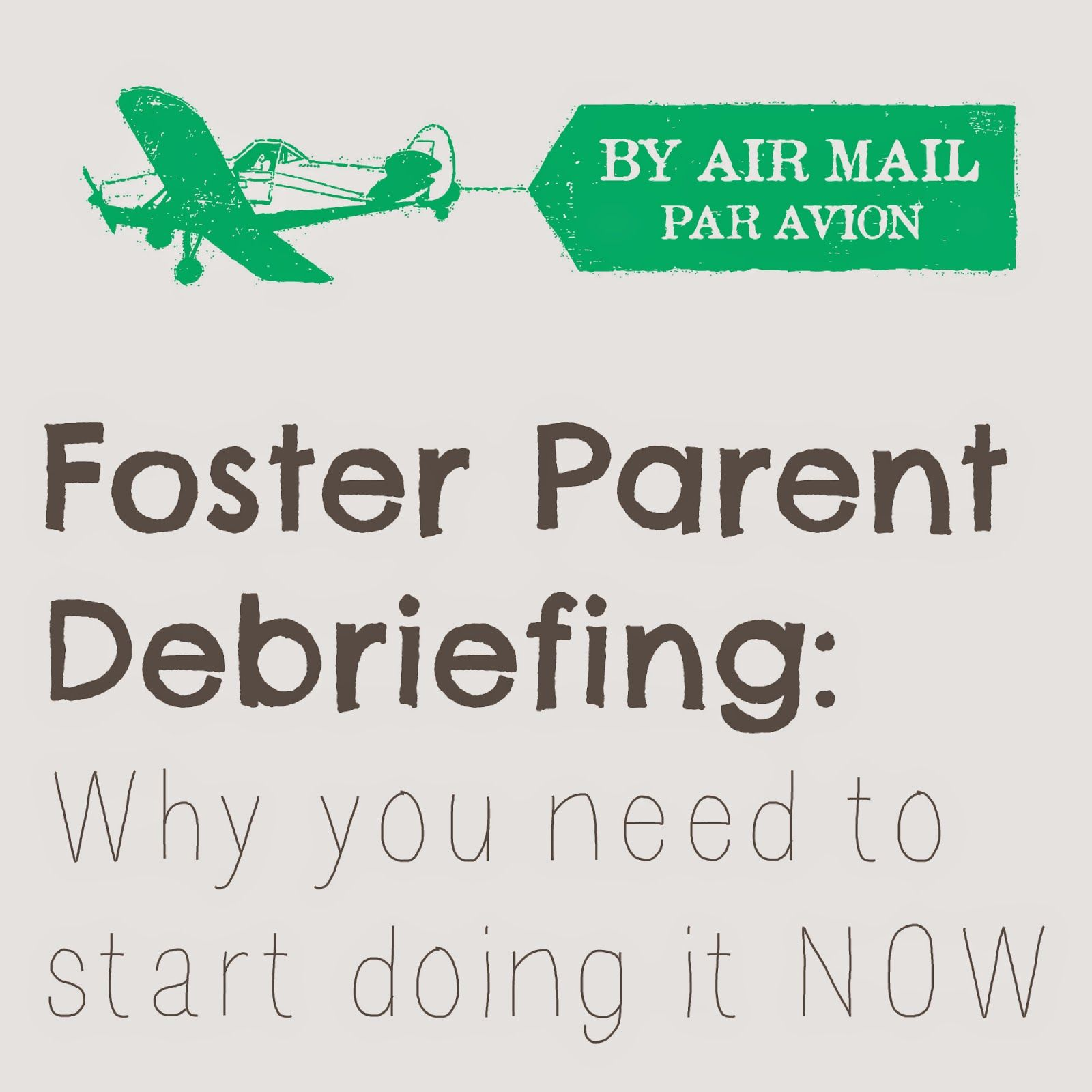 Foster parent debriefing what it is and why its