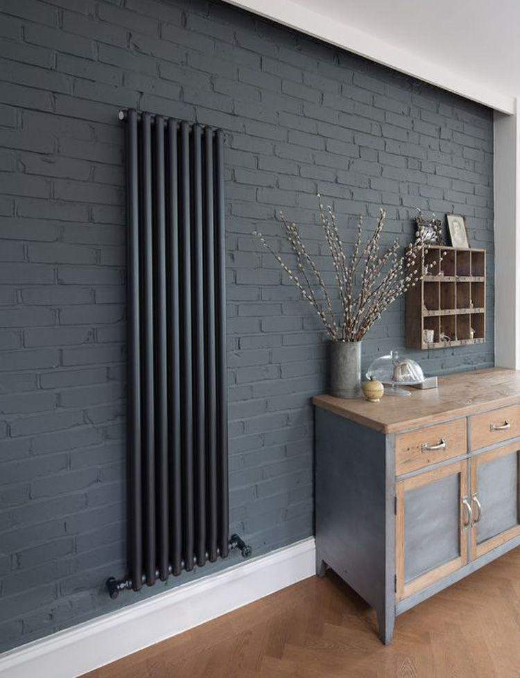 Grijze designradiator woonkamer | deco salons | Pinterest ...