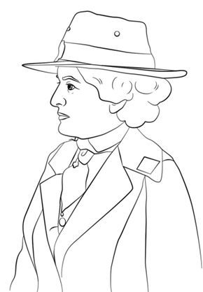 Juliette Low Coloring Page From Girl Scouts Category Select From