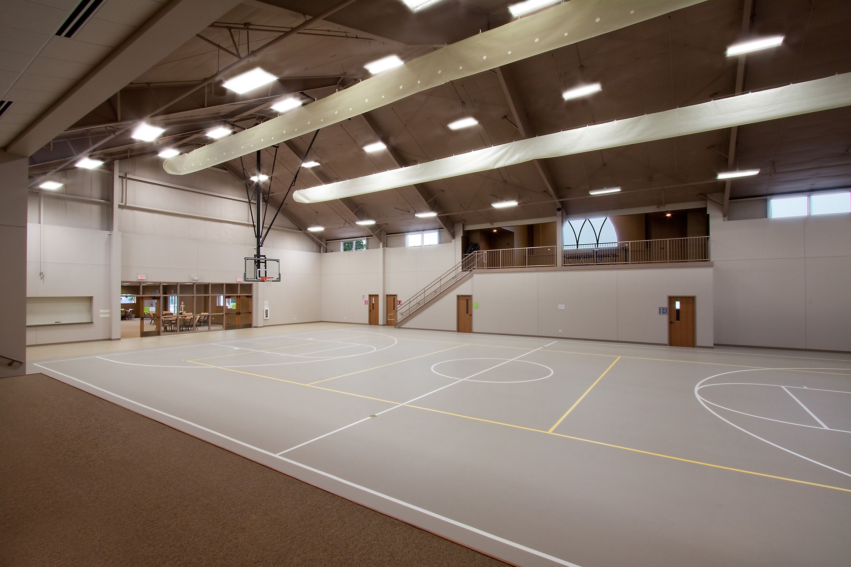 Helmar lutheran church in helmar il features of this for Building a basketball court