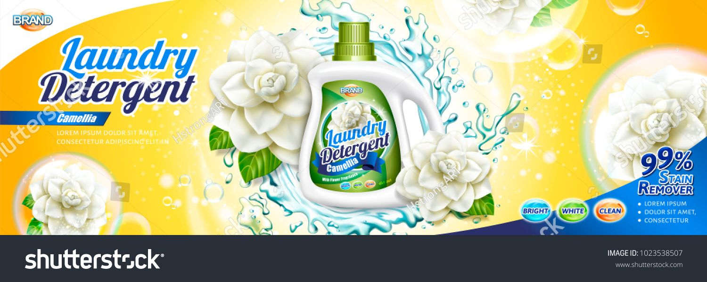 Laundry Detergent Ads Camellia Scent Detergent Liquid With Floral