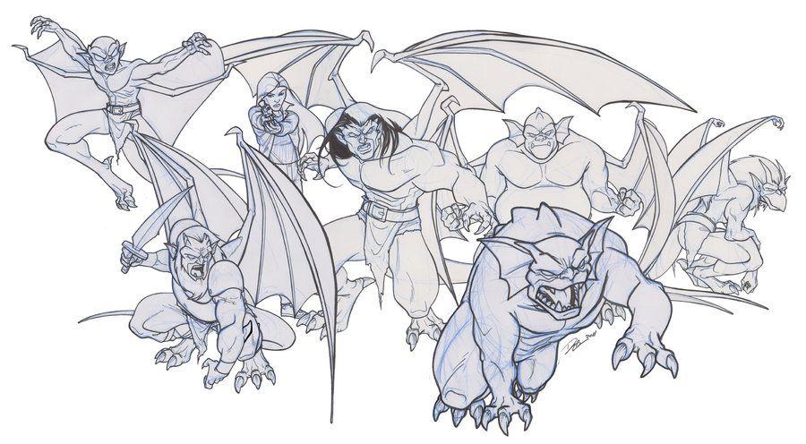 Gargoyles Sketchs Gargoyles Disney Gargoyles Cartoon Gargoyles