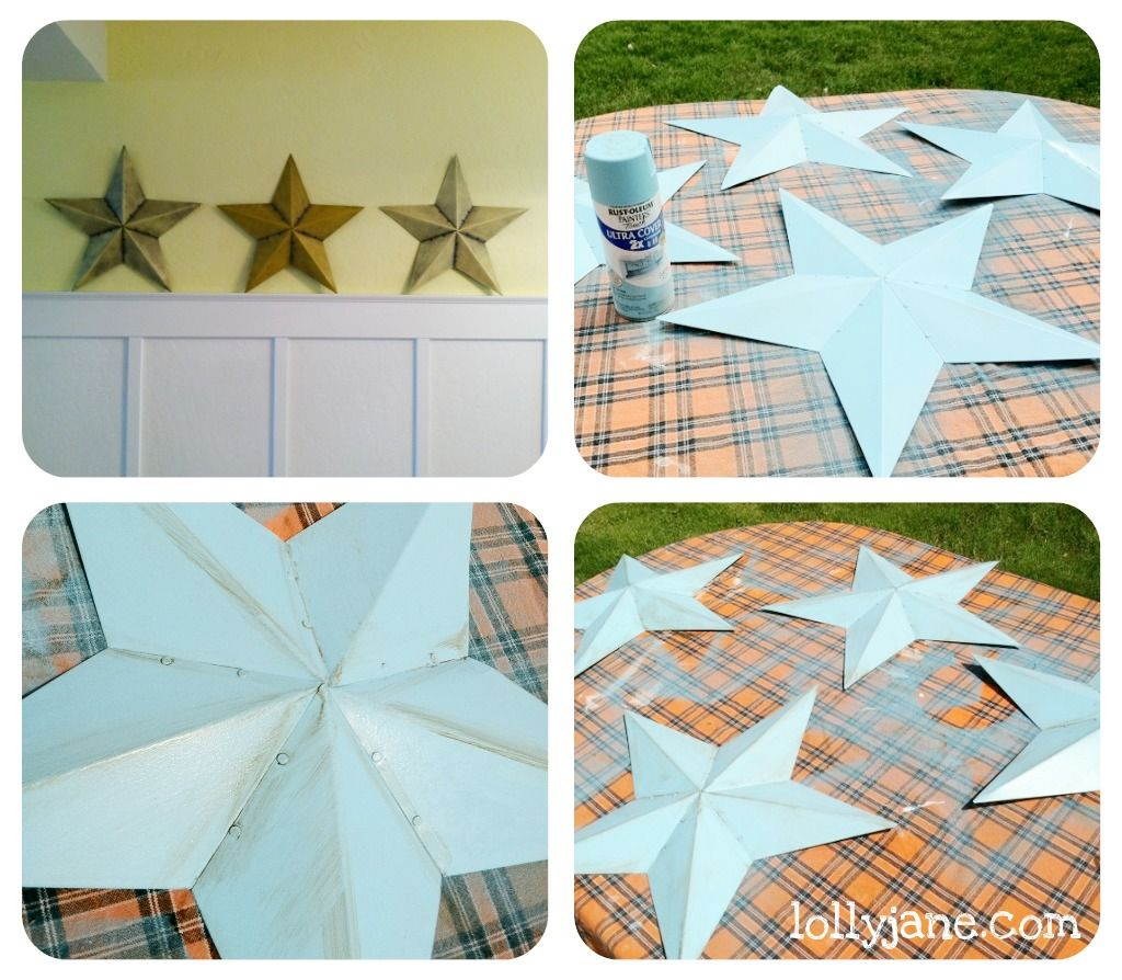 quick wall decor with tin stars | Decorating with stars ...