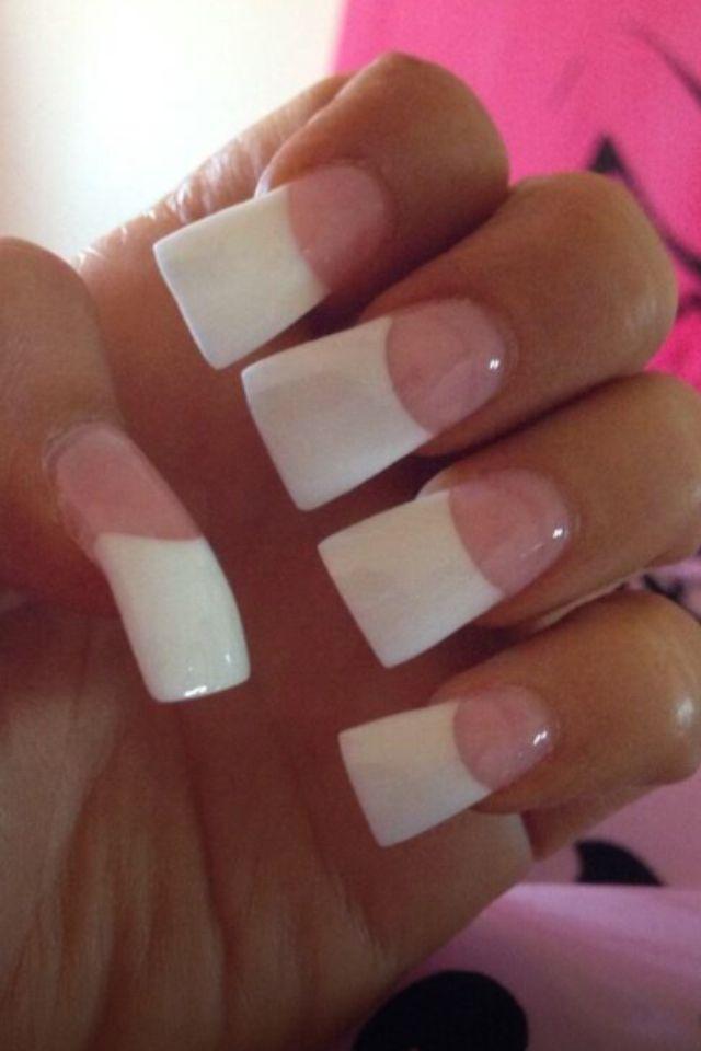 French manicure acrylic | Manicures | Pinterest | Manicure, Nail ...