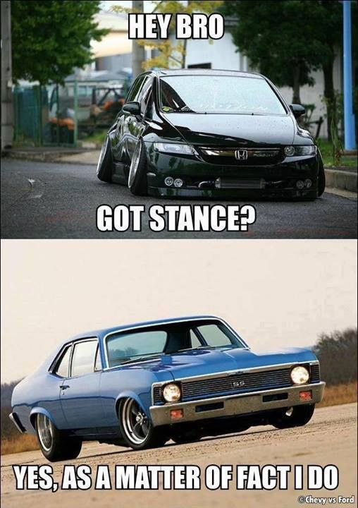 Muscle Car Memes Hey Bro Got Stance Https Www Musclecarfan