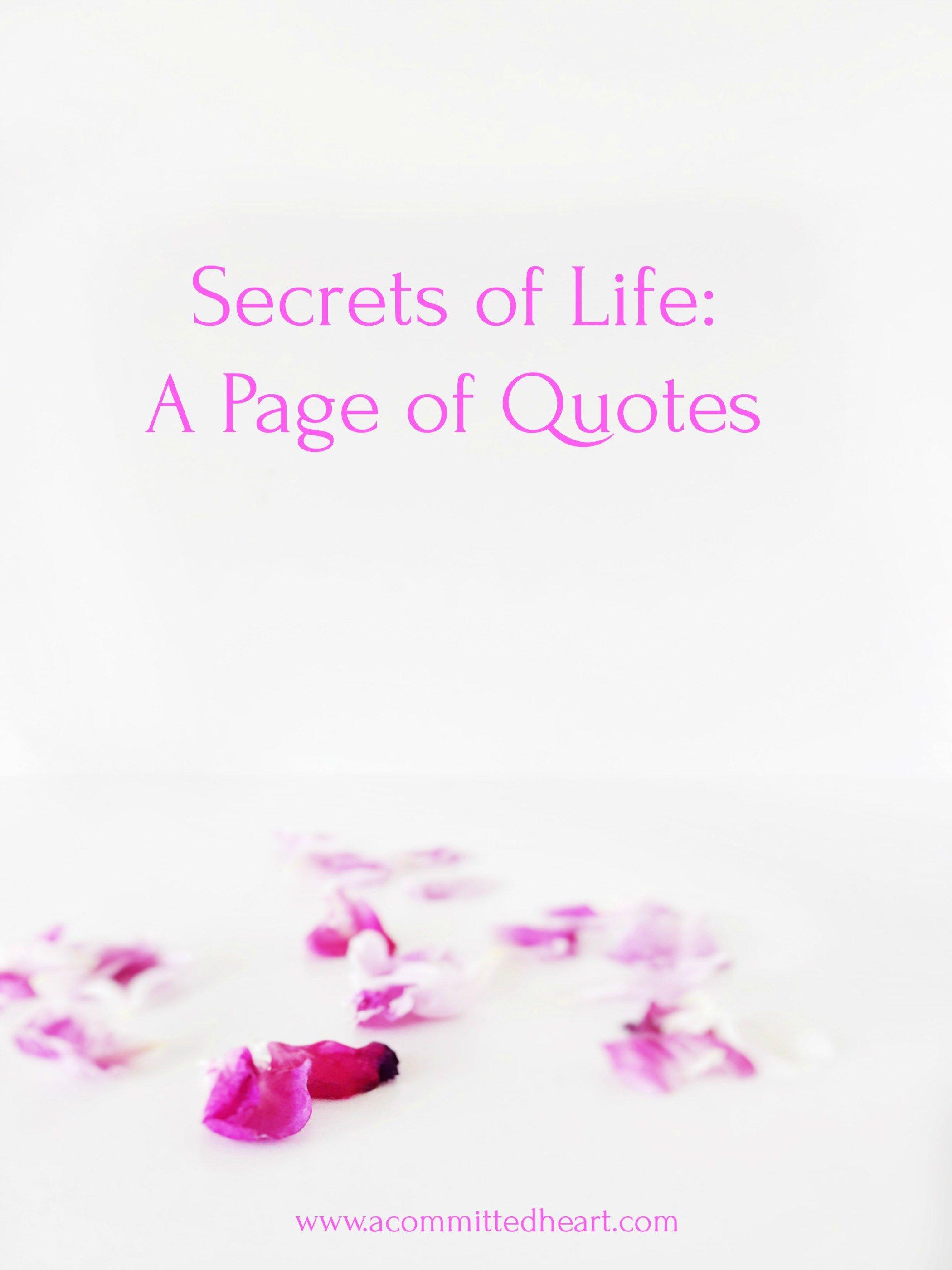 Secrets of life scheduled via tailwindapputmsource