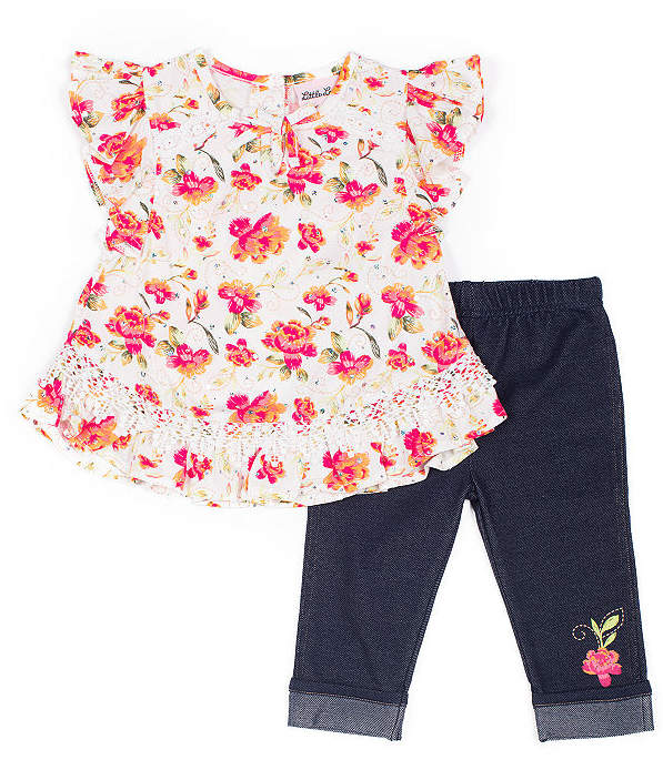 ff6c30c8096ca Little Lass 2-pc. Legging Set-Baby Girls in 2019 | Products | Capri ...