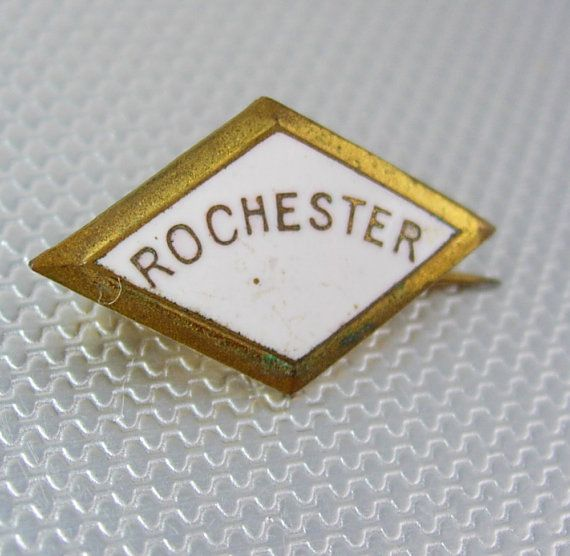 Vintage Rochester Gold Filled Enamel Lapel by NeatstuffAntiques, $45.00