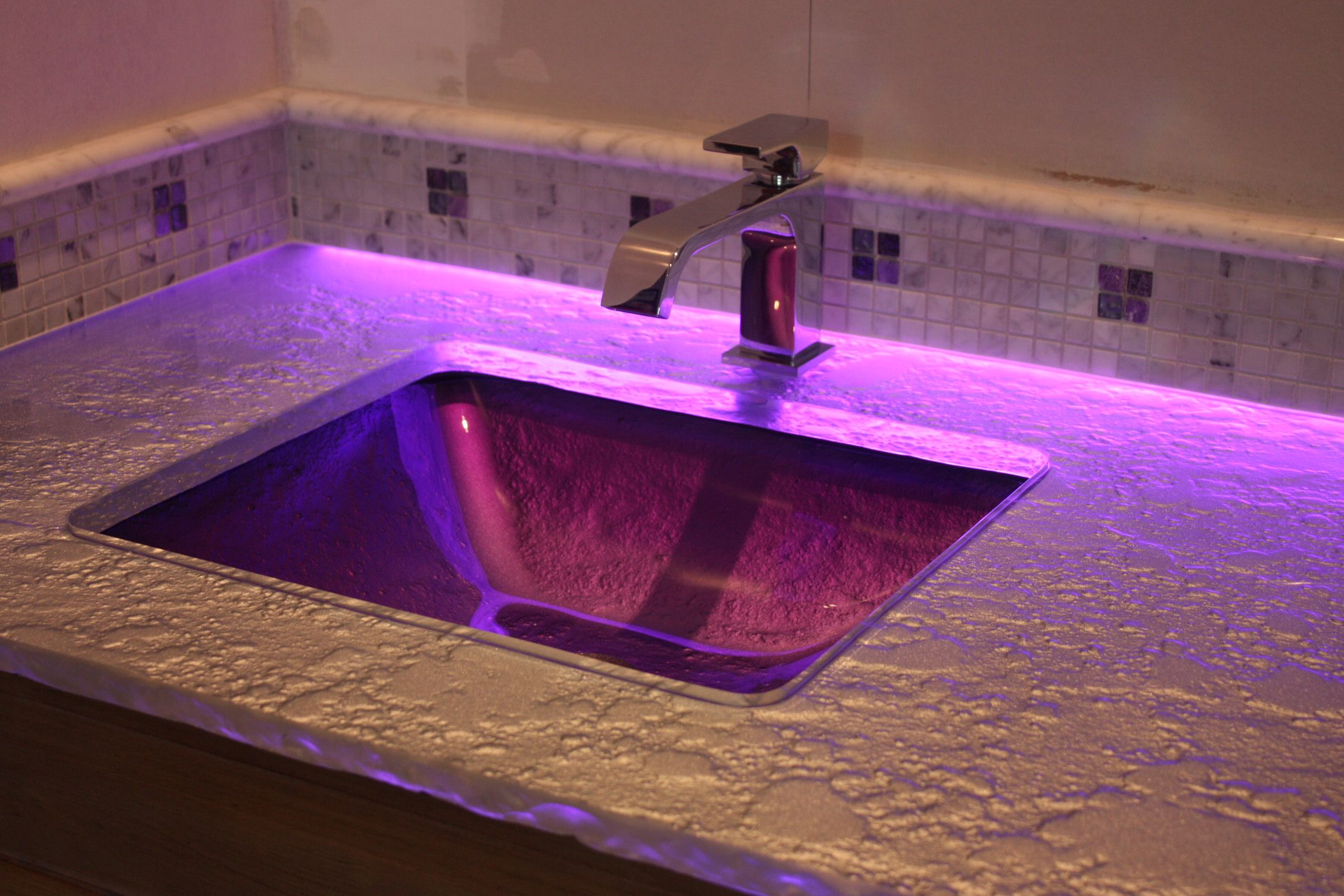 Pink and purple bathroom backroom accent led lighting of glass get quality led lights from the leading led light manufacturers at inspired led we offer energy saving dimmable transformers led kitchen lighting aloadofball Images