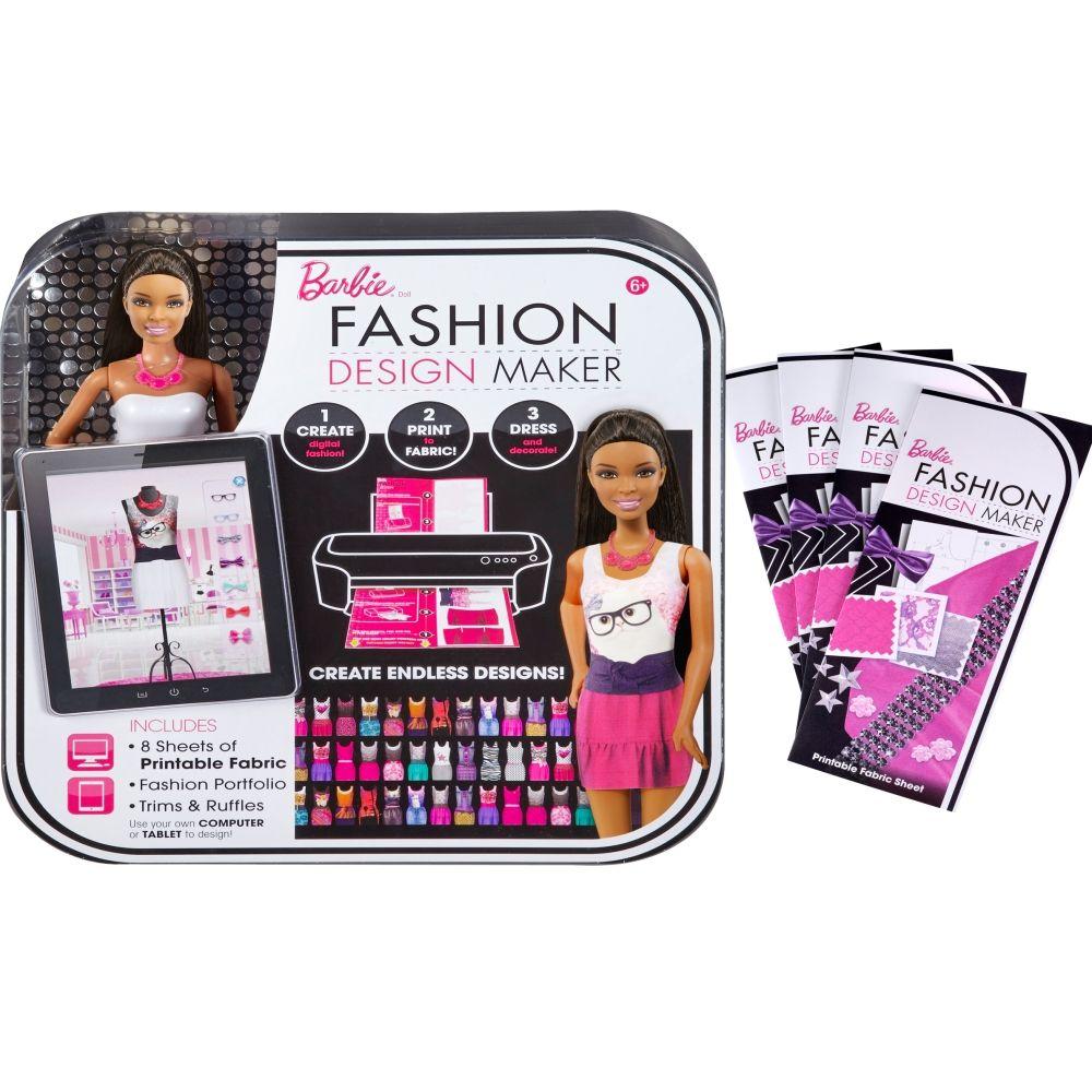 Barbie Fashion Design Maker Doll And Refill Pack Gift Set African American Shop Mattel Com Toddler Girl Toys Mattel Shop Toys For Girls