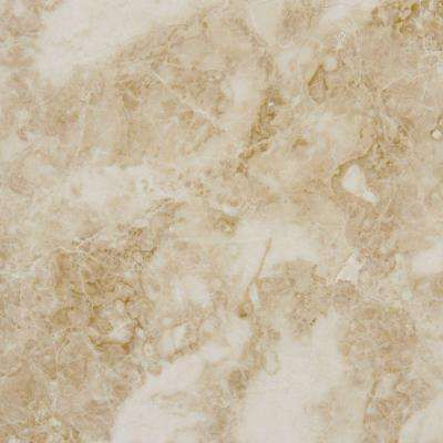 Cappuccino 18 In X 18 In Polished Marble Floor And Wall Tile 9 Sq