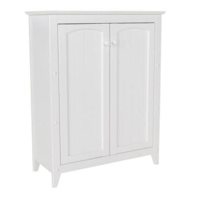 Wood Linen Cabinet In White 89035   The Home Depot