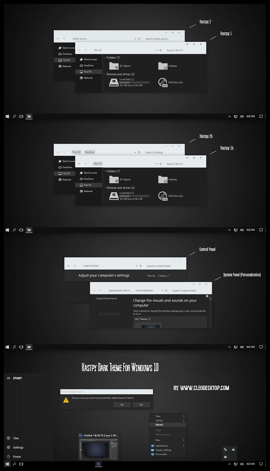 Hastpy Dark White Theme Windows10 November 2019 Update