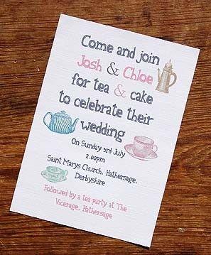 Tea Party Vintage Wedding Invitation A Bird Bee