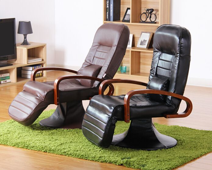 Functional Leather Computer Chair 360 Degree Swivel Black/ Brown Office  Desk Modern Office Computer Chair