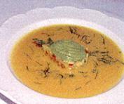Chilled Yellow Pepper Cilantro Soup, Mango Avocado Tartar Recipe | California Avocado Commission