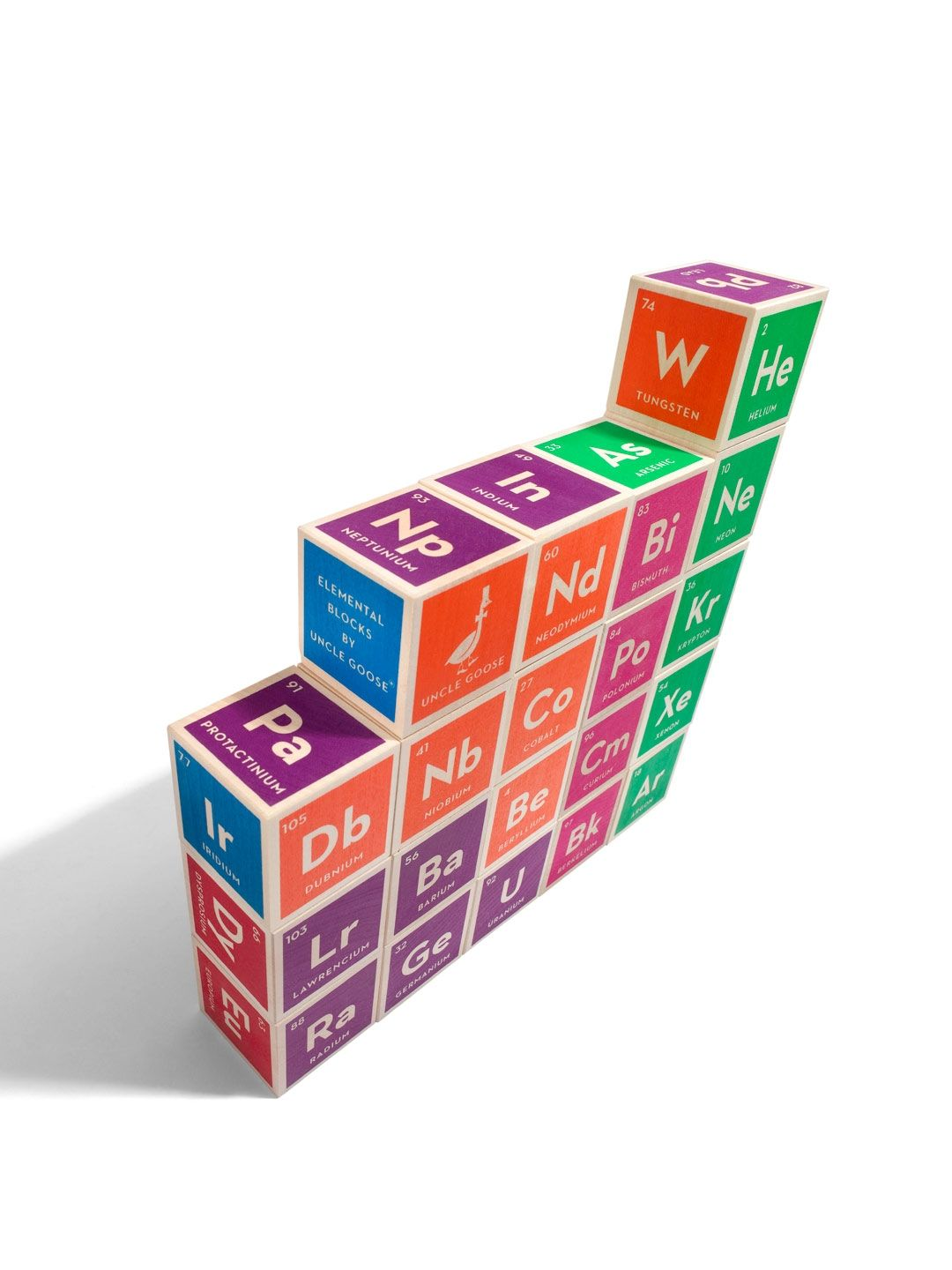Elemental block set by uncle goose at gilt toys games pinterest the entire periodic table of elements on 20 hand crafted wood cubes each block contains six element images with their atomic number symbol and name gamestrikefo Choice Image
