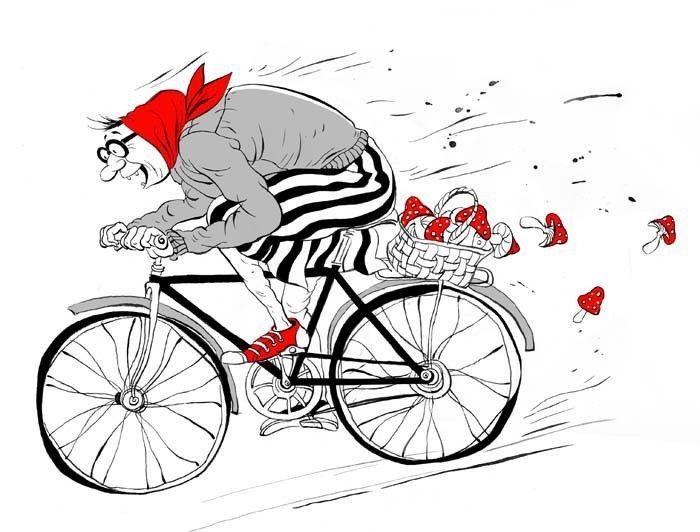 Мая, прикольные рисунки велосипедов