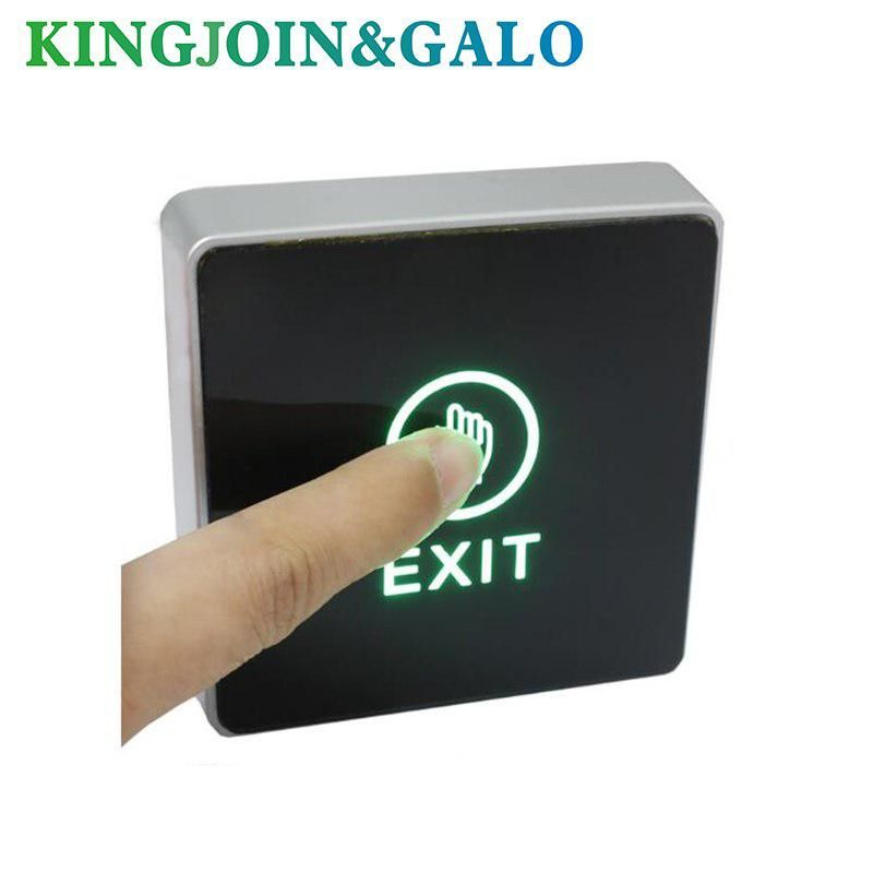 Dc 12v Nc No Release Button Switch Square Touch Sensor Door Exit With Led Light Door Switch Button Door Switch Sensor Switch