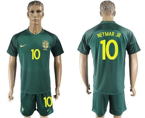 2017 2018 brazil 10 neymar jr away soccer country jersey