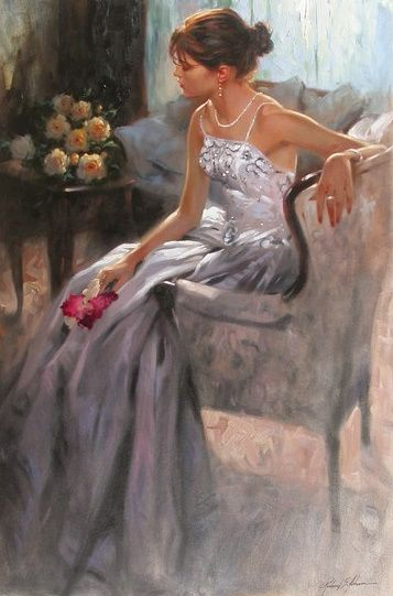 Artist..Richard S. Johnson! As I saw this painting, I felt as this artist has seen my pic and made this drawing! Aline. ♥