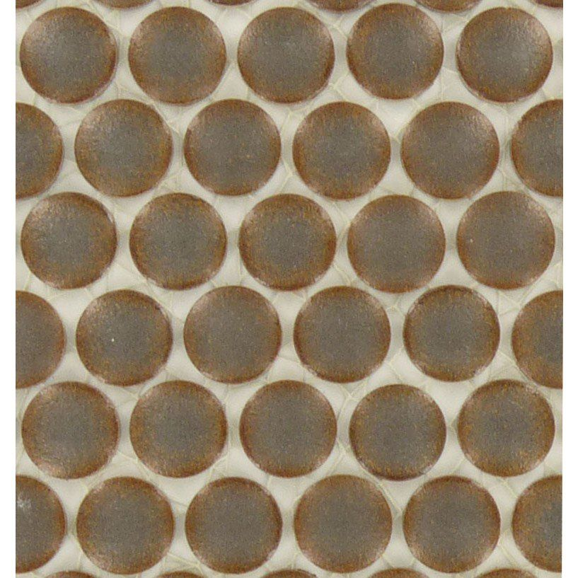 Circles Bronze Copper Porcelain Penny Circles Tile Glossy CR-4