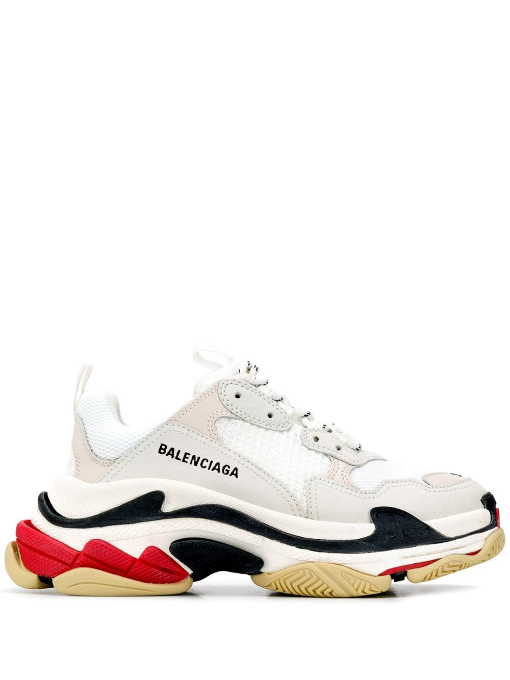Balenciaga Triple S Runner V2 in Triple White New Depop