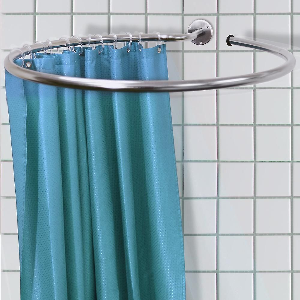 Loop - Stainless Steel Circular Round Shower Rail And Curtain Rings ...