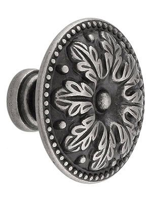 Leaf Design Cabinet Knob With Choice Of Finish | House of Antique ...
