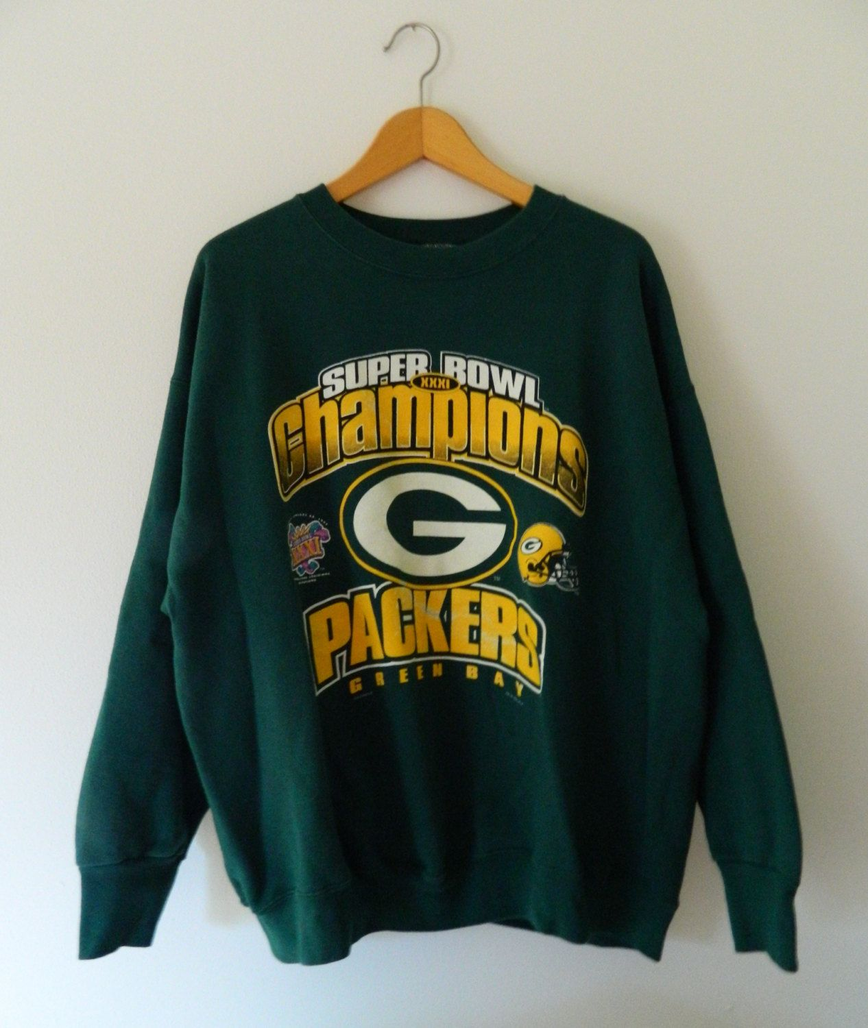 Green Bay Packers Vintage Sweatshirt    Super Bowl XXXI Champions 1997 New… 8ffca3845