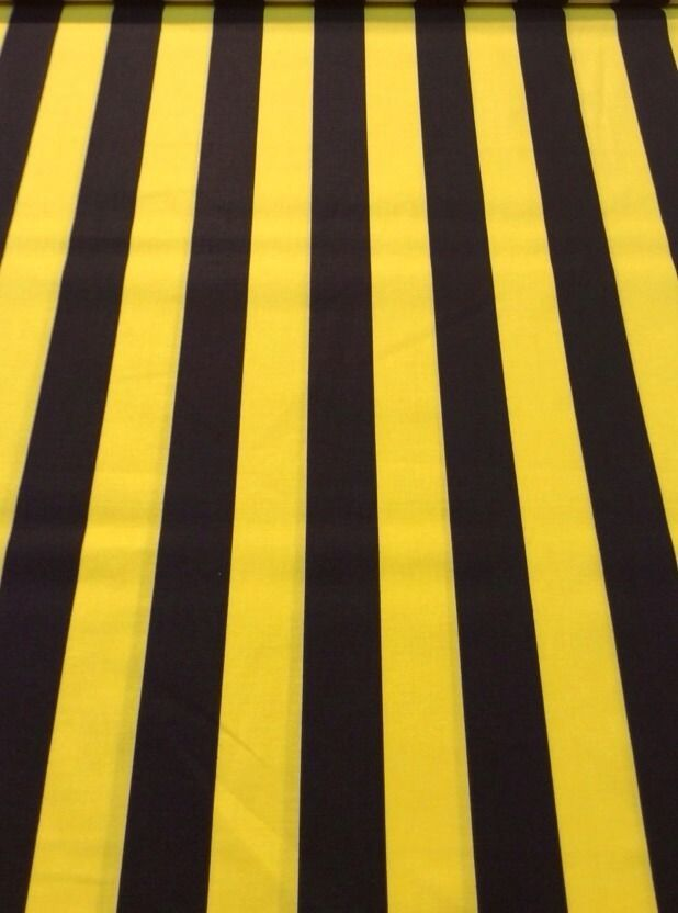 CR277 Black And Yellow Gold Stripe Awning Cotton Fabric Quilt ... : stripe quilt fabric - Adamdwight.com