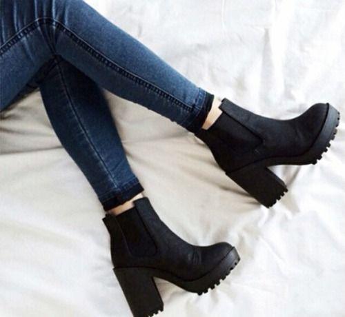 Follow  http   creativityisthegreatestrebellion.tumblr.com  Black Heeled  Boots Outfit 7e69307adc