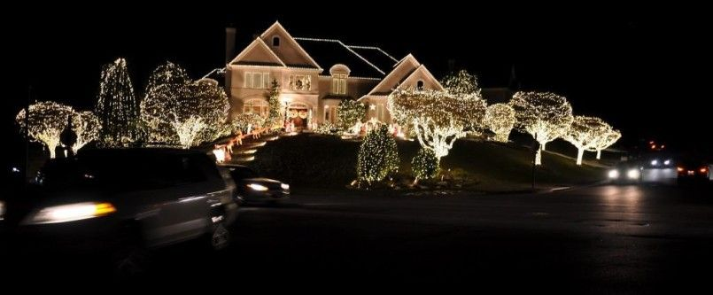 Decorating Ideas Of Home Interior Design Crazy Christmas Lights House Spotlight Decorations 1024x423 Rustic Modern