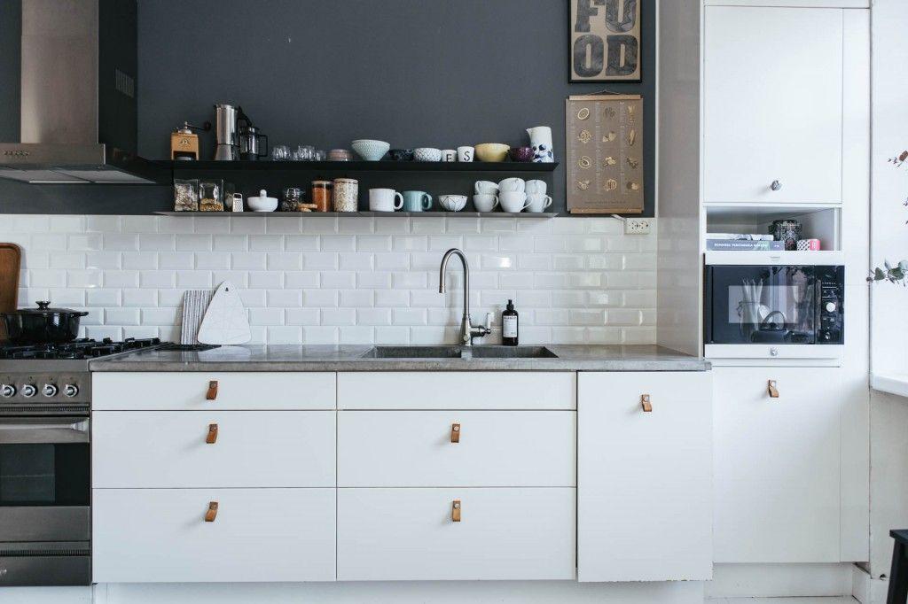 Azulejo biselado para una cocina nórdica Cocinas Pinterest