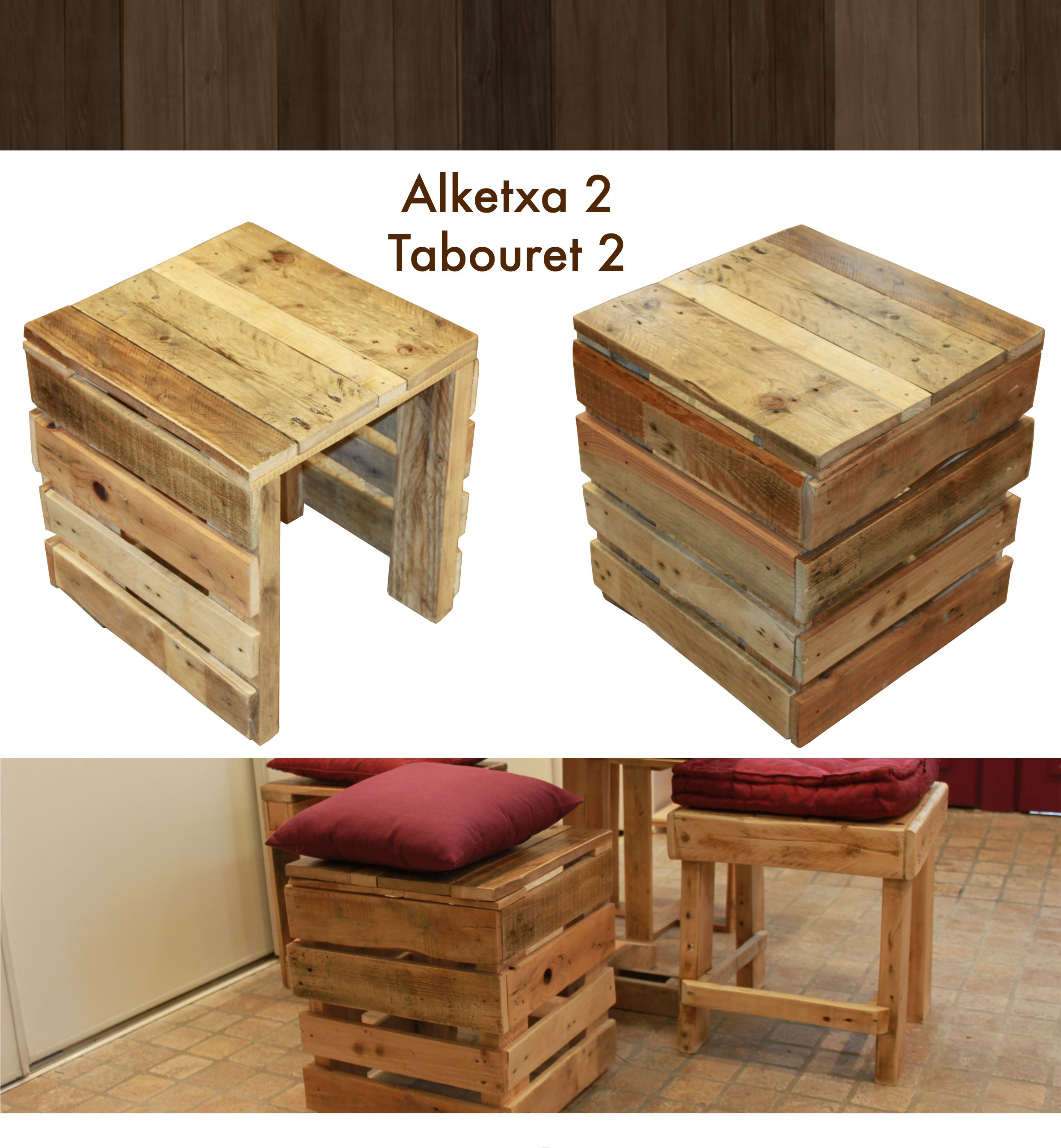 tabouret en bois de palette tabouret pinterest tabouret en bois tabouret et palette. Black Bedroom Furniture Sets. Home Design Ideas