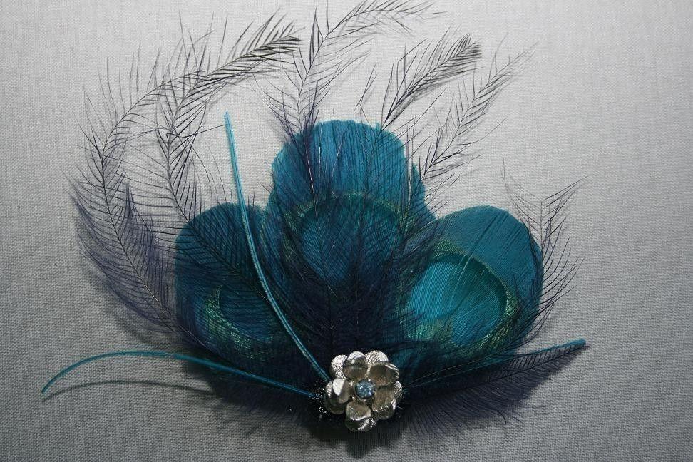 Peacock hair clip. #trend #accessory